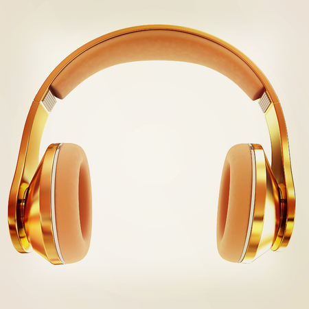 Best headphone icon. 3d illustration.