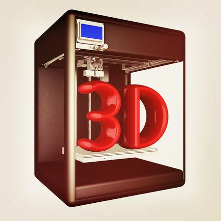 3d printer. 3d illustration. Stock Photo