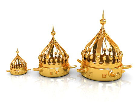 Crown. 3d render