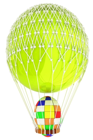Hot Air Balloon with Easter egg. 3d render Reklamní fotografie