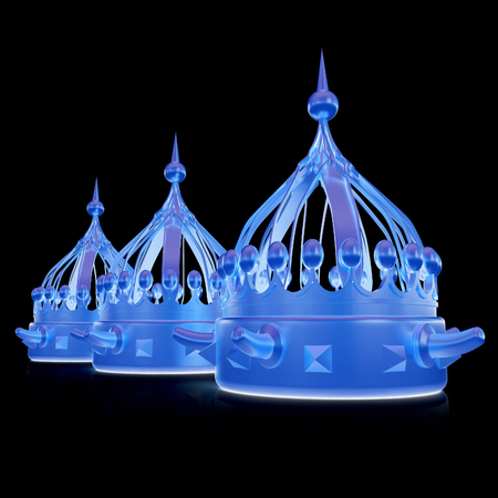 Crown. 3d render. On a black background.