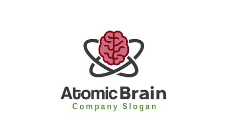 atomic: Atomic brain design Illustration