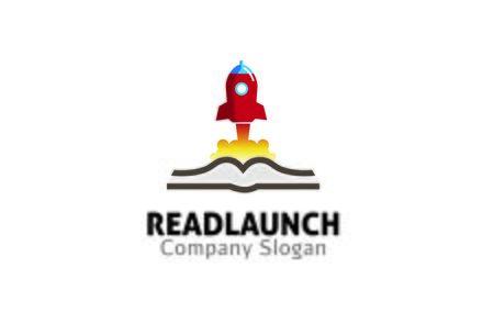 rocket launch: Rocket Launch Book Design Vectores