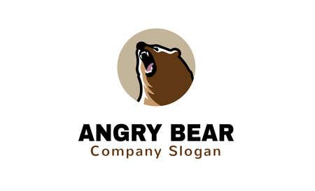 angry bear: Enojado del oso Dise�o Ilustraci�n Vectores