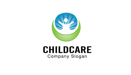 child care: Child Care Design Illustration