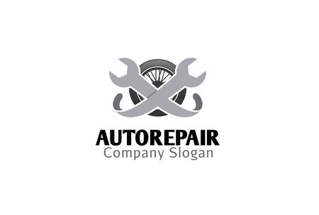 vector tyre: Auto Repair Design Illustration Illustration