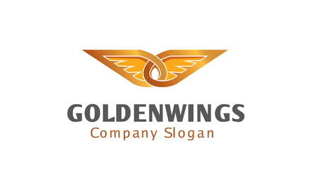 Golden Wings Design Illustration