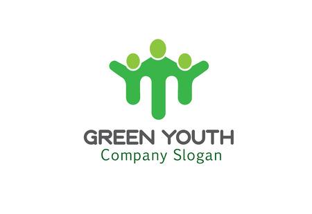 logo medicina: Juventud Verde Diseño Ilustración Vectores