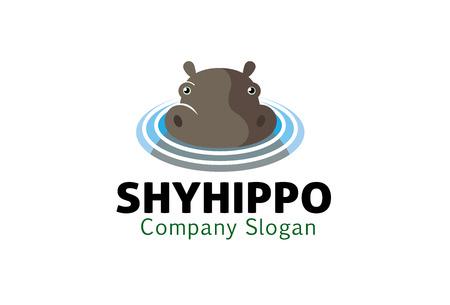 hippopotamus: Hipopótamo Diseño Ilustración Vectores