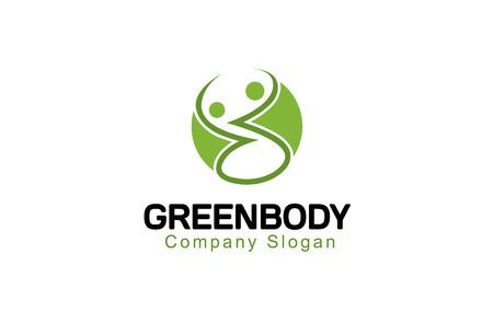 medizin logo: Grün Körper Design Illustration