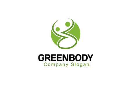 logo medicina: Green Design Body Ilustraci�n Vectores