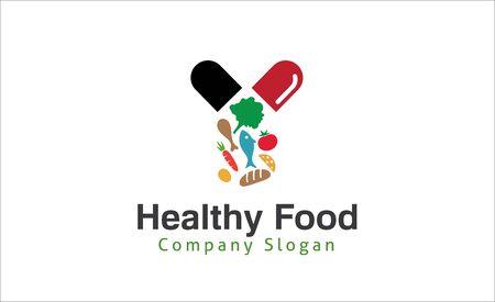 eating lunch: Healthy Food Design Illustration Illustration