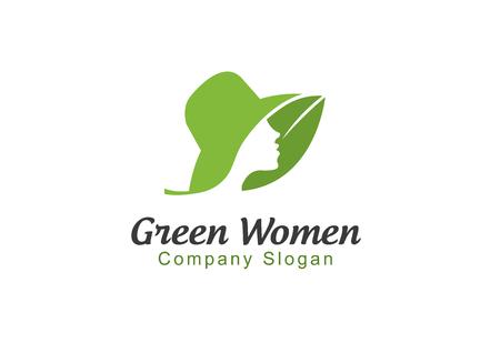 beauty care: Green Women Design Illustration Illustration