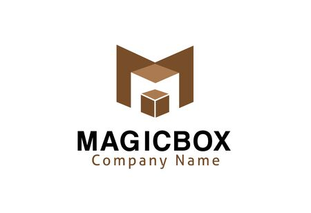 Magic Box Ontwerp Illustratie Stock Illustratie