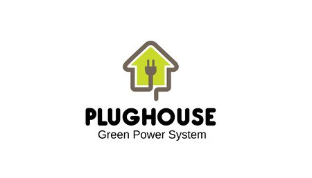 Plug House Design Illustration  イラスト・ベクター素材