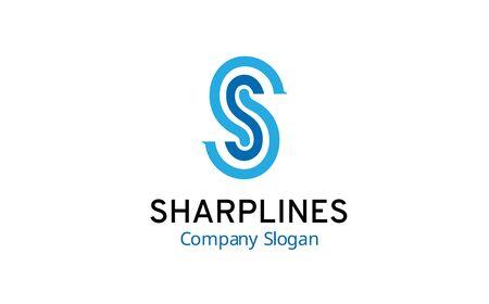 éles: sharp lines Design Letter Illusztráció