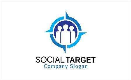 network marketing: Social Target Design Illustration Illustration