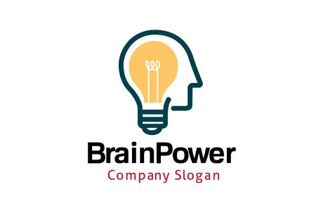 power: Brain Power Design Illustration Illustration