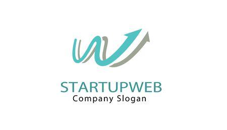 Start Up Web Design Letter  イラスト・ベクター素材