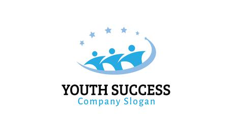 sociedade: Juventude Sucesso Design Ilustra
