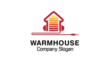 home audio: Warm House Design Illustration Illustration