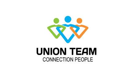 Union Team Design Illustration Ilustracja