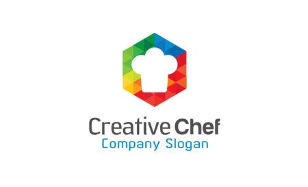 logo de comida: Jefe de diseño creativo Ilustración