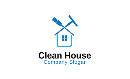 squeegee: Clean House Design Illustration