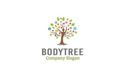 Body Tree Design Illustration