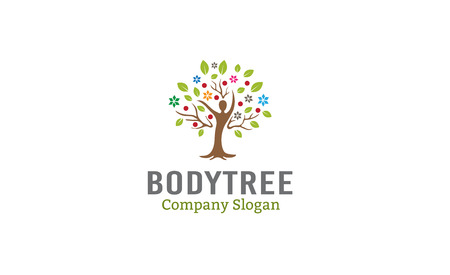 healthy growth: Body Tree Design Illustration