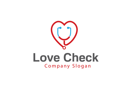 Love Check Design Illustration Illustration