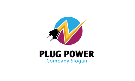 Plug Power Ontwerp Illustratie