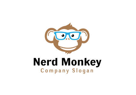 head wise: Nerd Monkey Design Illustration