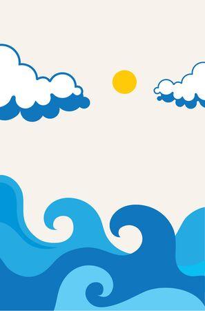 sea wave: Waves beach illustration