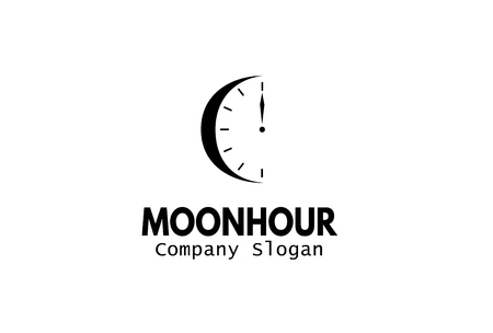 night moon: Moon Hour Design Illustration Illustration
