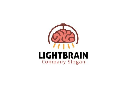 clever: Light Design Brain Illustration Illustration