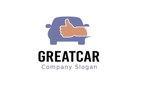 manos logo: Gran diseño del coche Ilustración