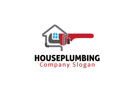 House Plumbing Design Illustration 向量圖像