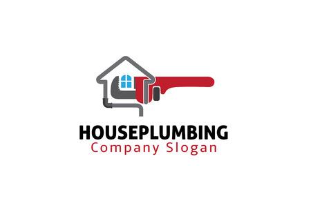 Huis Loodgieters Ontwerp Illustratie Stock Illustratie