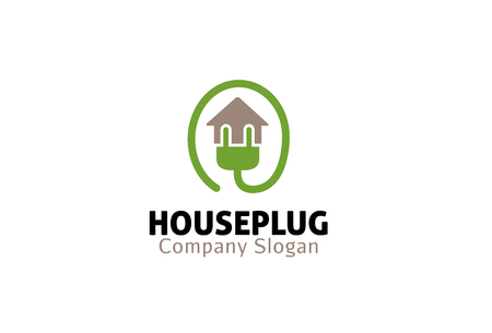 Plug House Design Illustration Vettoriali