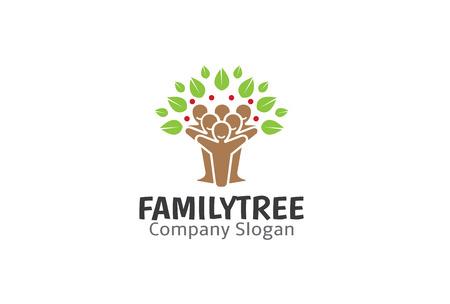 Familia Diseño Árbol Ilustración