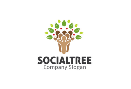 Diseño Árbol Social Ilustración