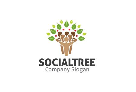 community health care: Social Tree Design Illustration