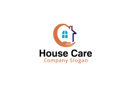 House Care Design Illustration 向量圖像