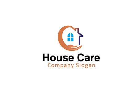 Huis Care Ontwerp Illustratie