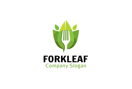 Fork Leaf Design Illustration 일러스트