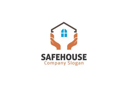 Safe House Design Illustration  イラスト・ベクター素材