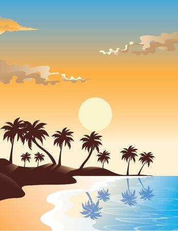 sunrise beach: Sunrise Beach illustration