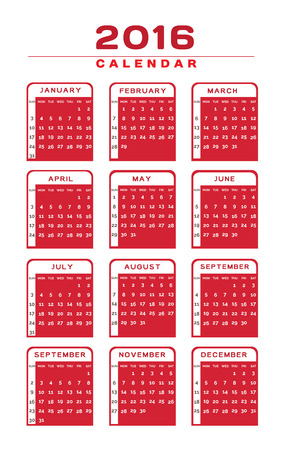 scholastic: English Calendar 2016 Design Illustration