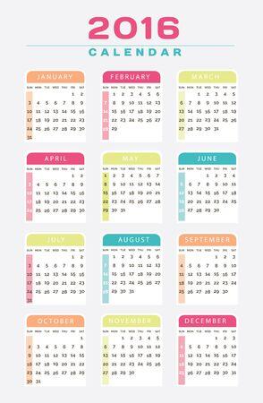 scholastic: English Calendar 2016 Design Illustration